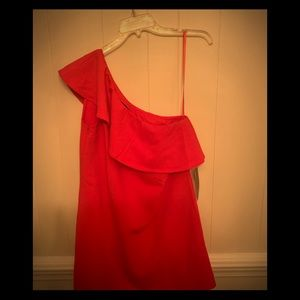 NWT- French Connection One Shoulder Dress